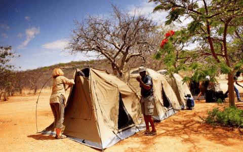 namiot w Namibii
