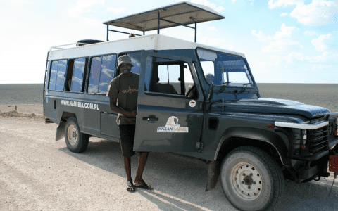 samochodem przez Namibię